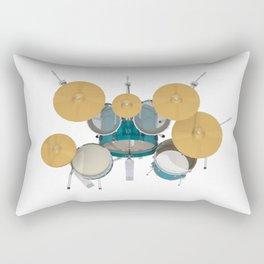 Green Drum Kit Rectangular Pillow