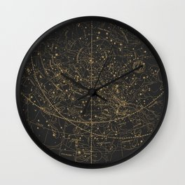 Visible Heavens - Dark Wall Clock