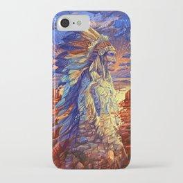 native american colorful portrait iPhone Case