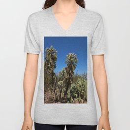 Jumping Cholla Cactus Unisex V-Neck