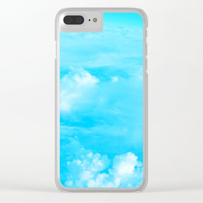 Aerial Turquoise Clouds Clear iPhone Case