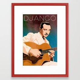 Django Reinhardt – Jazz Manouche Framed Art Print