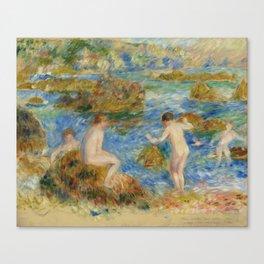 """Auguste Renoir """"Garçons nus dans les rochers à Guernsey"""" Canvas Print"""