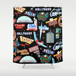 Vintage Signs Pattern #2 Shower Curtain
