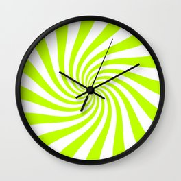 Swirl (Lime/White) Wall Clock