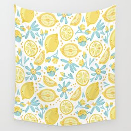 Lemon pattern White Wall Tapestry