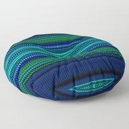 Nautical Rag Weave Quad 1 by Chris Sparks Floor Pillow