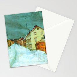 "Harald Sohlberg ""Storgaten Røros"" Stationery Cards"