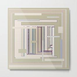 Metaphysical Oatmeal Taupe Sage geometric graphic design Metal Print