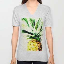 Golden Pineapple Unisex V-Neck