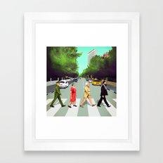 A(llen)bby road - TLV Framed Art Print