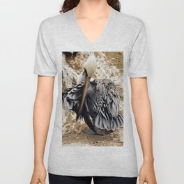 Feather Display Unisex V-Neck