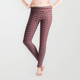 University of Alabama colors chevron zig zag minimal pattern college football sports Leggings