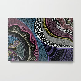 Doodle cross the night Metal Print