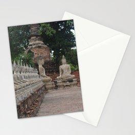 Buddha statues at Wat Yai Chai Mongkhon Stationery Cards