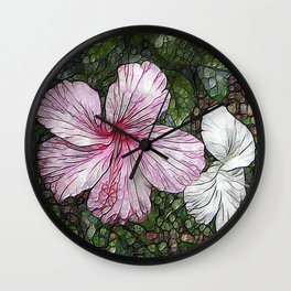 Fabulous hibiscus Wall Clock