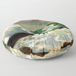 Winslow Homer1 - On A Lee Shore - Digital Remastered Edition Floor Pillow