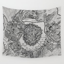 Vintage Map of Vienna Austria (1780) Wall Tapestry