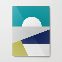 Mid Century Modern Coastal Sunrise  Metal Print