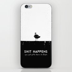 Shit Happens (Black White) iPhone & iPod Skin