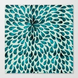 Elegant Abstract Blue Droplets Canvas Print