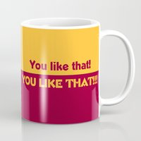 nfl Mugs featuring Kirk Cousins YOU LIKE THAT by Cussing Cups