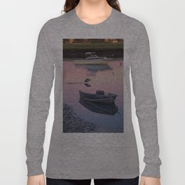 Two boats one seagull Long Sleeve T-shirt
