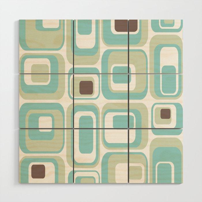 Retro Rectangles Mid Century Modern Geometric Vintage Style Wood