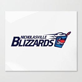 Nicholasville blizzards Full Logo Canvas Print