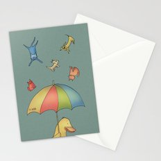 It's raining cats and dogs Stationery Cards
