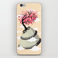 cherry blossom iPhone & iPod Skins featuring Cherry Blossom by Freeminds