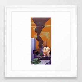 Chickzilla Framed Art Print