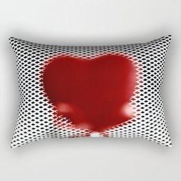 Heart in a cell Rectangular Pillow