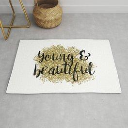 Young & beautiful - golden jazz Rug