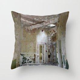Forgotten Corridors Throw Pillow