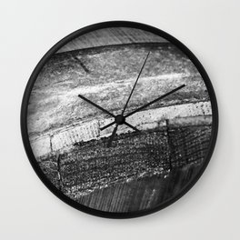 Barrels In Black & White Wall Clock