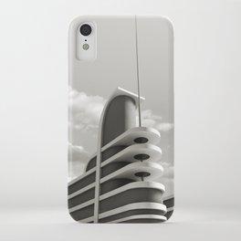 PAN PACIFIC AUDITORIUM BLACK AND WHITE iPhone Case