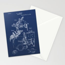 Phonograph Vintage Patent Hand Drawing Stationery Cards