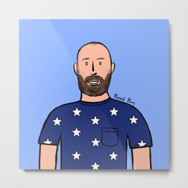 Beard Boy: Luisma Metal Print