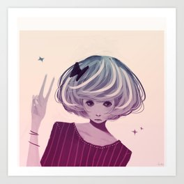 Not Smiling Doesn't Mean Your Not Happy Art Print