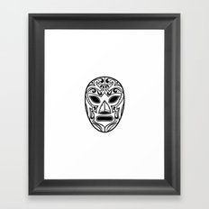 Mexican Wrestling Mask Framed Art Print