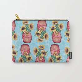 Sunflower Vase Carry-All Pouch