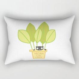 VEGAN CAT PLANT LADY Rectangular Pillow