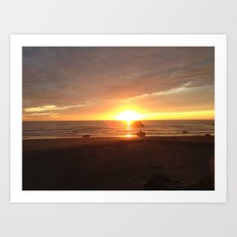 21st Beach Sunset Art Print