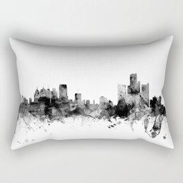 Detroit Michigan Skyline Rectangular Pillow