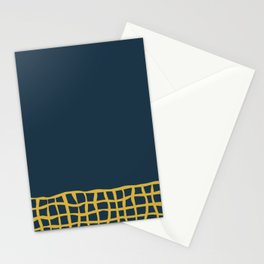 Mesh Cuff Solid Minimalism in Light Mustard Yellow and Navy Blue Stationery Cards