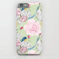 Shabby Chic Bluebirds and Roses Slim Case iPhone 6