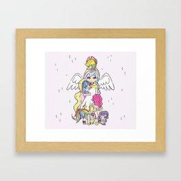 My Little Pony (chibi version) Framed Art Print