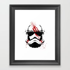 Stormtrooper Ink Blot - Finn Framed Art Print