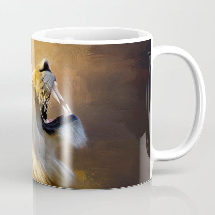 Roaring Lion Portrait Coffee Mug By Simonegatterwe Society6